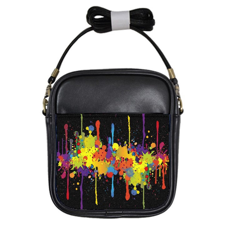 Crazy Multicolored Double Running Splashes Horizon Girls Sling Bags