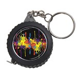 Crazy Multicolored Double Running Splashes Horizon Measuring Tapes Front