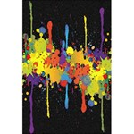 Crazy Multicolored Double Running Splashes Horizon 5.5  x 8.5  Notebooks Back Cover