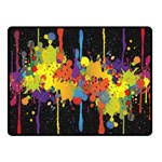 Crazy Multicolored Double Running Splashes Horizon Fleece Blanket (Small) 50 x40 Blanket Front