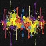 Crazy Multicolored Double Running Splashes Horizon Storage Stool 12   Back