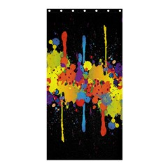 Crazy Multicolored Double Running Splashes Horizon Shower Curtain 36  x 72  (Stall)
