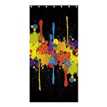 Crazy Multicolored Double Running Splashes Horizon Shower Curtain 36  x 72  (Stall)  33.26 x66.24 Curtain