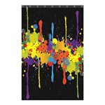 Crazy Multicolored Double Running Splashes Horizon Shower Curtain 48  x 72  (Small)  42.18 x64.8 Curtain