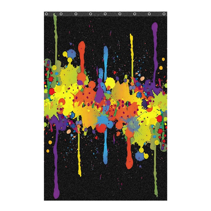 Crazy Multicolored Double Running Splashes Horizon Shower Curtain 48  x 72  (Small)