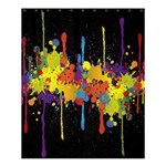 Crazy Multicolored Double Running Splashes Horizon Shower Curtain 60  x 72  (Medium)  54.25 x65.71 Curtain