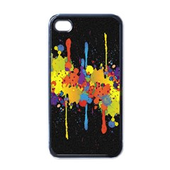 Crazy Multicolored Double Running Splashes Horizon Apple iPhone 4 Case (Black)