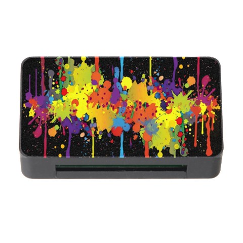 Crazy Multicolored Double Running Splashes Horizon Memory Card Reader with CF