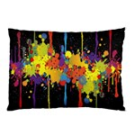 Crazy Multicolored Double Running Splashes Horizon Pillow Case (Two Sides) Front