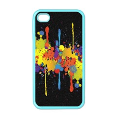 Crazy Multicolored Double Running Splashes Horizon Apple iPhone 4 Case (Color)