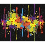 Crazy Multicolored Double Running Splashes Horizon Deluxe Canvas 14  x 11  14  x 11  x 1.5  Stretched Canvas