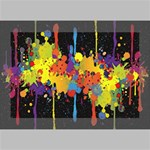 Crazy Multicolored Double Running Splashes Horizon Deluxe Canvas 18  x 12   18  x 12  x 1.5  Stretched Canvas