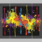 Crazy Multicolored Double Running Splashes Horizon Deluxe Canvas 20  x 16   20  x 16  x 1.5  Stretched Canvas