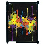 Crazy Multicolored Double Running Splashes Horizon Apple iPad 2 Case (Black) Front