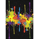 Crazy Multicolored Double Running Splashes Horizon BOY 3D Greeting Card (7x5) Inside