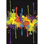Crazy Multicolored Double Running Splashes Horizon Heart Bottom 3D Greeting Card (7x5) Inside