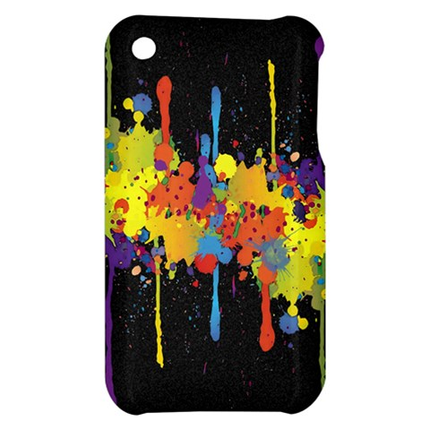 Crazy Multicolored Double Running Splashes Horizon Apple iPhone 3G/3GS Hardshell Case