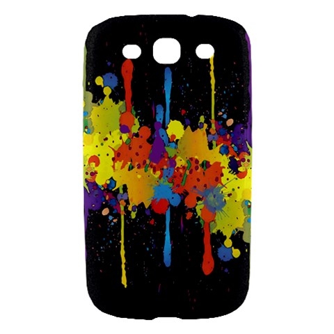 Crazy Multicolored Double Running Splashes Horizon Samsung Galaxy S III Hardshell Case