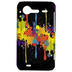 Crazy Multicolored Double Running Splashes Horizon HTC Incredible S Hardshell Case
