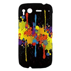 Crazy Multicolored Double Running Splashes Horizon HTC Desire S Hardshell Case