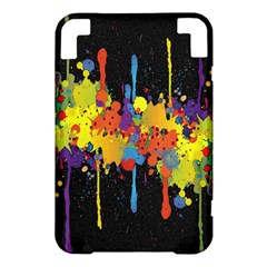 Crazy Multicolored Double Running Splashes Horizon Kindle 3 Keyboard 3G