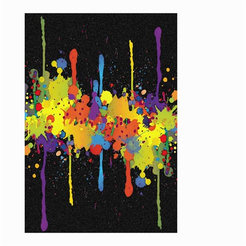 Crazy Multicolored Double Running Splashes Horizon Small Garden Flag (Two Sides)
