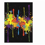 Crazy Multicolored Double Running Splashes Horizon Large Garden Flag (Two Sides) Front