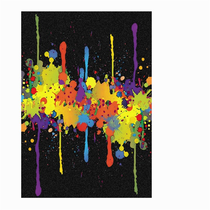 Crazy Multicolored Double Running Splashes Horizon Large Garden Flag (Two Sides)