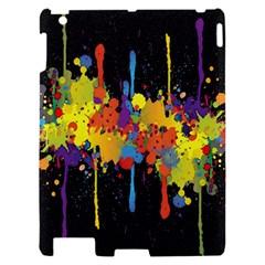 Crazy Multicolored Double Running Splashes Horizon Apple iPad 2 Hardshell Case