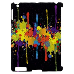 Crazy Multicolored Double Running Splashes Horizon Apple iPad 2 Hardshell Case (Compatible with Smart Cover)