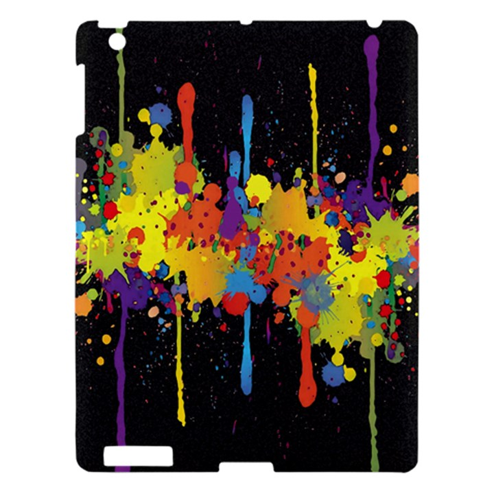 Crazy Multicolored Double Running Splashes Horizon Apple iPad 3/4 Hardshell Case