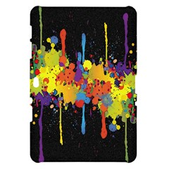 Crazy Multicolored Double Running Splashes Horizon Samsung Galaxy Tab 10.1  P7500 Hardshell Case