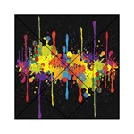 Crazy Multicolored Double Running Splashes Horizon Acrylic Tangram Puzzle (6  x 6 ) Front
