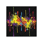 Crazy Multicolored Double Running Splashes Horizon Acrylic Tangram Puzzle (4  x 4 ) Front