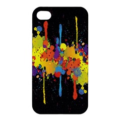 Crazy Multicolored Double Running Splashes Horizon Apple Iphone 4/4s Premium Hardshell Case