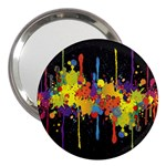 Crazy Multicolored Double Running Splashes Horizon 3  Handbag Mirrors Front