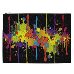 Crazy Multicolored Double Running Splashes Horizon Cosmetic Bag (XXL)