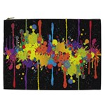 Crazy Multicolored Double Running Splashes Horizon Cosmetic Bag (XXL)  Front