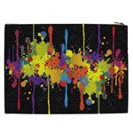 Crazy Multicolored Double Running Splashes Horizon Cosmetic Bag (XXL)  Back