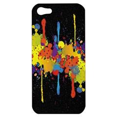 Crazy Multicolored Double Running Splashes Horizon Apple iPhone 5 Hardshell Case