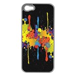 Crazy Multicolored Double Running Splashes Horizon Apple iPhone 5 Case (Silver) Front