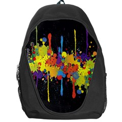 Crazy Multicolored Double Running Splashes Horizon Backpack Bag