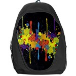 Crazy Multicolored Double Running Splashes Horizon Backpack Bag Front