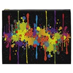 Crazy Multicolored Double Running Splashes Horizon Cosmetic Bag (XXXL)  Front