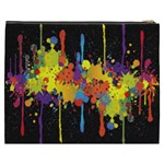 Crazy Multicolored Double Running Splashes Horizon Cosmetic Bag (XXXL)  Back