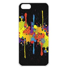 Crazy Multicolored Double Running Splashes Horizon Apple iPhone 5 Seamless Case (White)