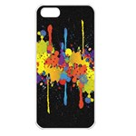 Crazy Multicolored Double Running Splashes Horizon Apple iPhone 5 Seamless Case (White) Front