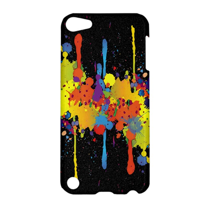 Crazy Multicolored Double Running Splashes Horizon Apple iPod Touch 5 Hardshell Case