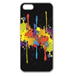 Crazy Multicolored Double Running Splashes Horizon Apple Seamless iPhone 5 Case (Clear) Front