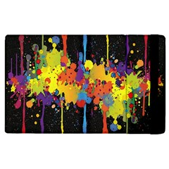 Crazy Multicolored Double Running Splashes Horizon Apple iPad 2 Flip Case